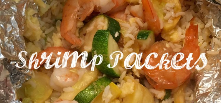Shrimp, Rice, and Zucchini Packets