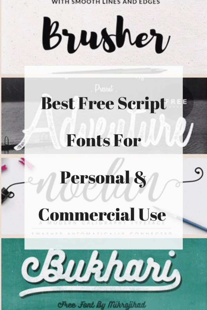 Best Free Script Fonts for Personal and Commercial Use -