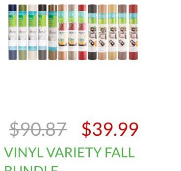 Vinyl Rolls As Low as $2.52 Including Glitter Vinyl!!